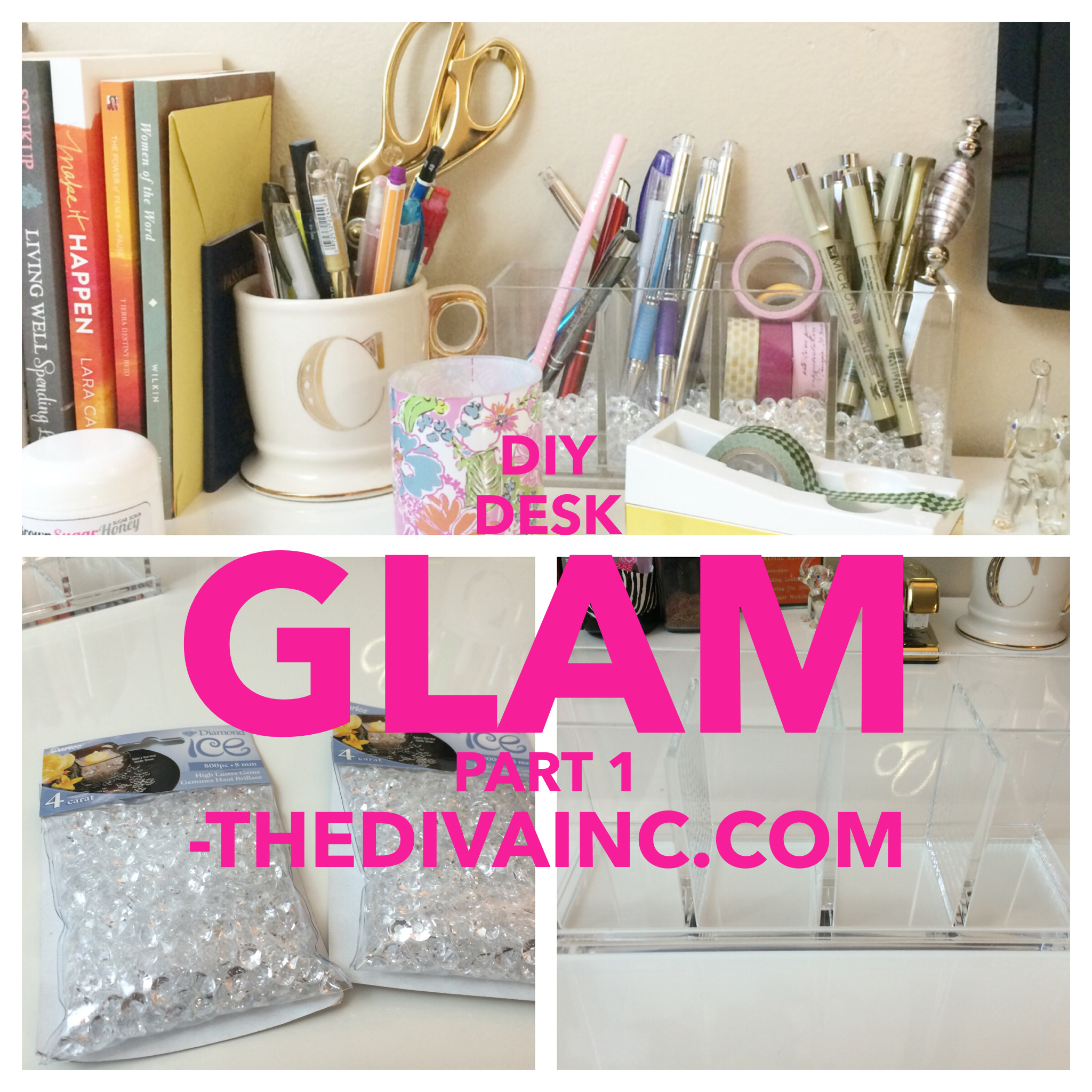 diy desk glam part 1 the diva inc magazine the